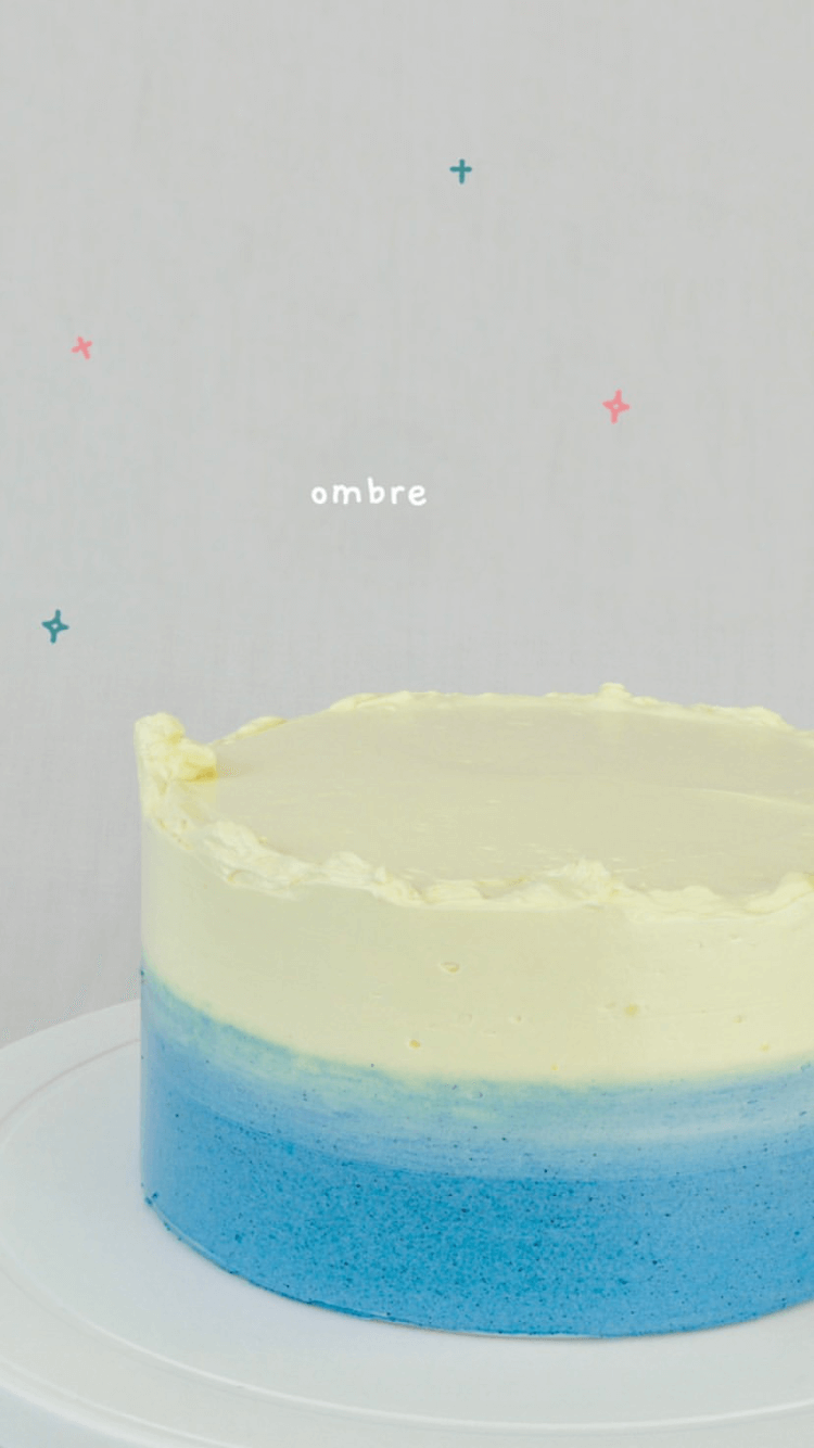 two-tone color cake