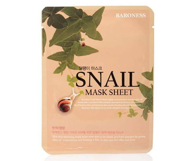 Best Snail Slime-Infused Skincare Product: Baroness Snail Mask Sheet