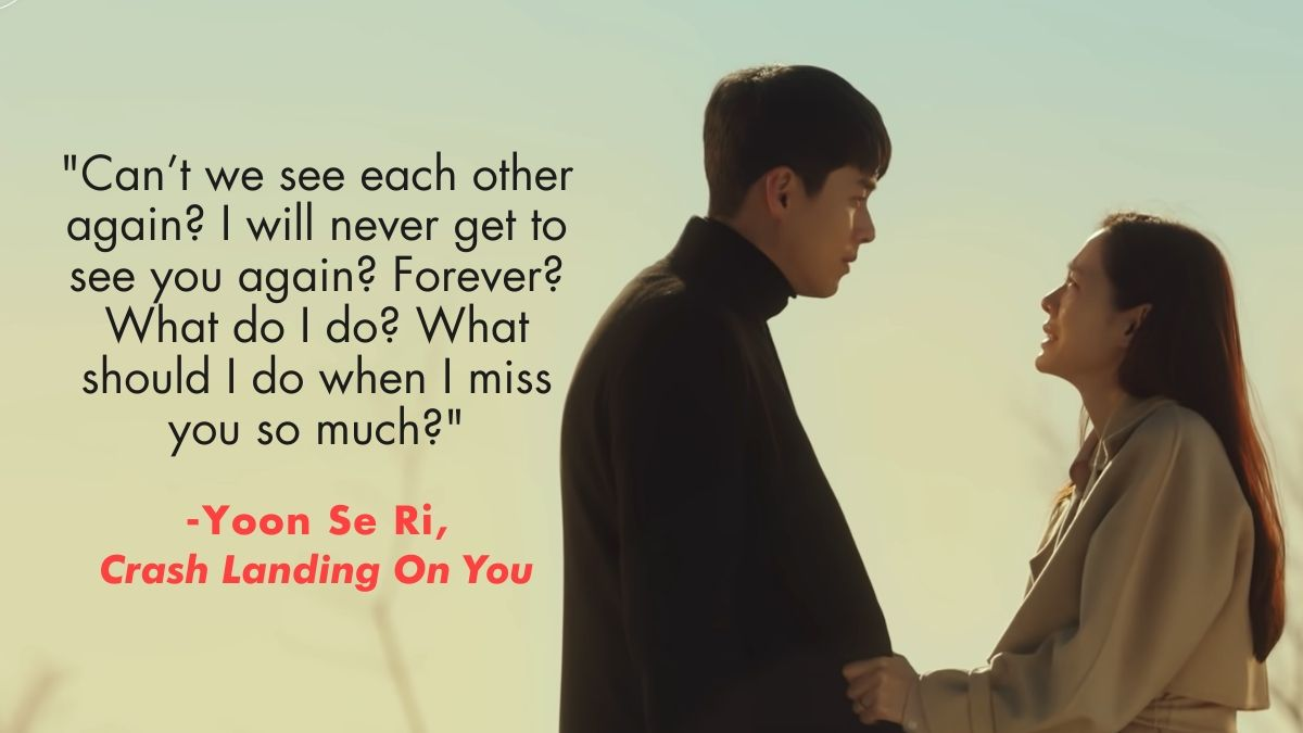 Captain Ri and Yoon Se Ri's parting scene in Crash Landing On You