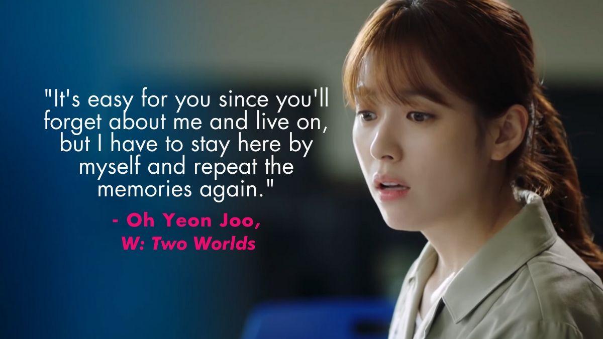 Han Hyo Joo as Oh Yeon Joo in W: Two Worlds