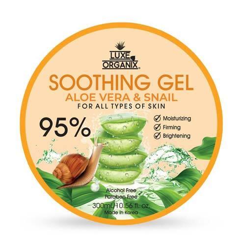 Best Snail Slime-Infused Skincare Product: Luxe Organix Aloe Vera & Snail Soothing Gel