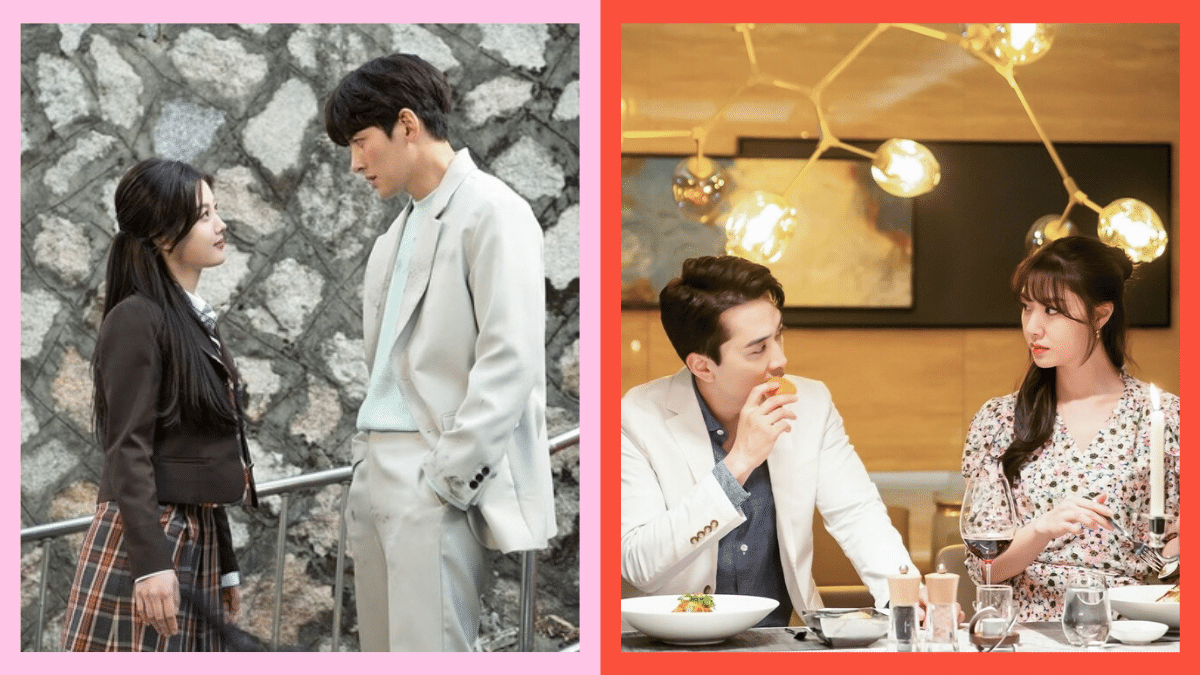 Side-by-side photos of the main couple in Korean dramas 'Backstreet Rookies' and 'Dinner Mate'.