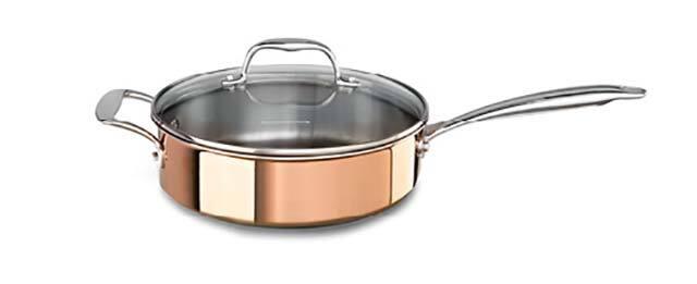 KitchenAid tri-ply Satin Copper Saute Pan