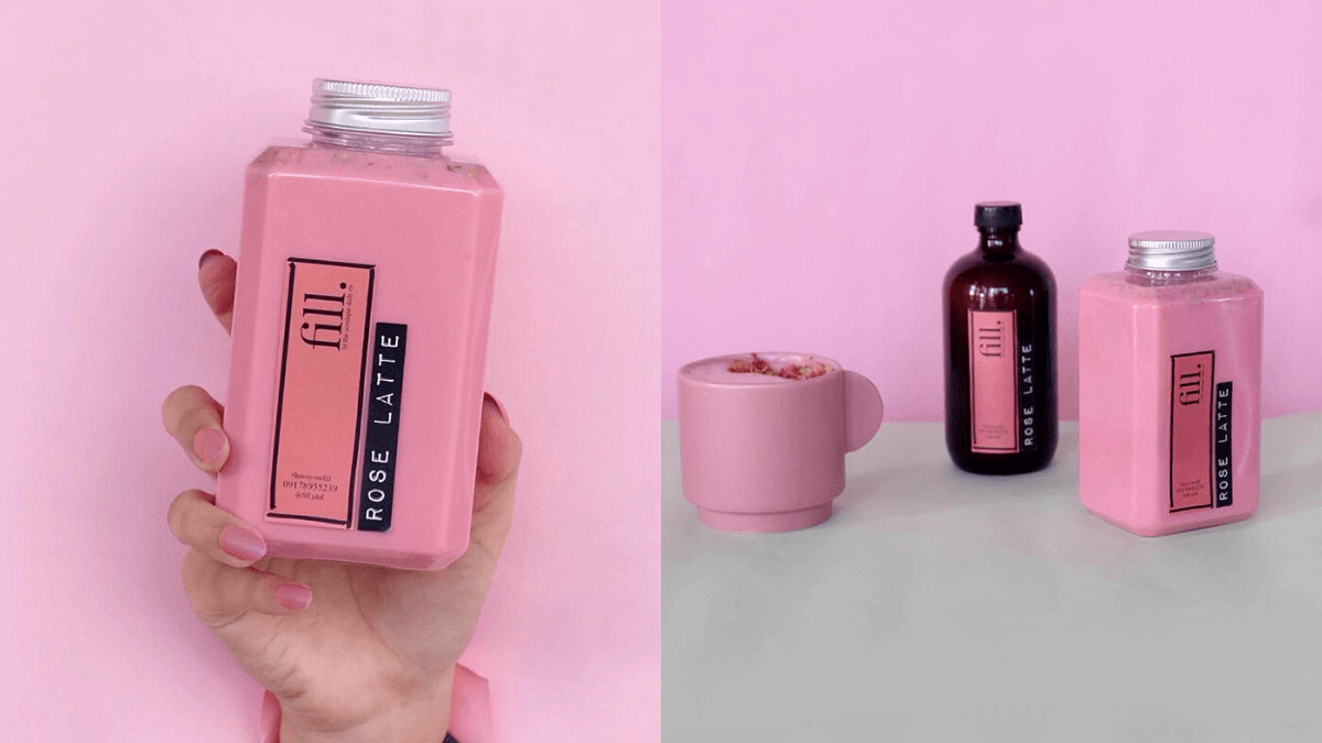 pink coffee, rose latte