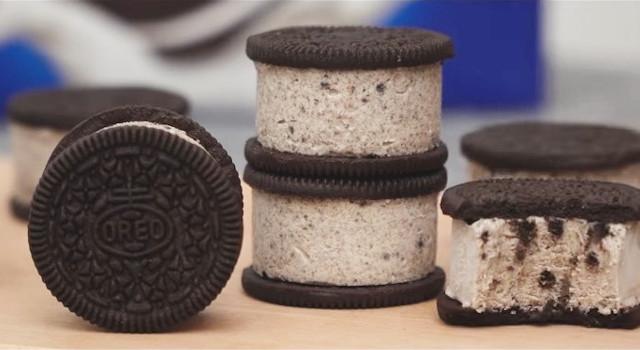 Oreo Ice Cream Sandwich Recipe - 3 Ingredients