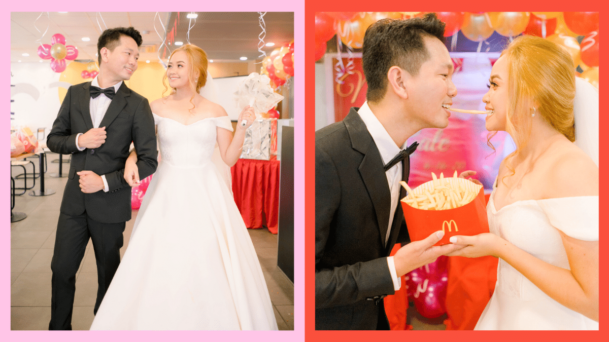 Wedding photos of Manuel and Gale, a couple who got married at McDonald's!