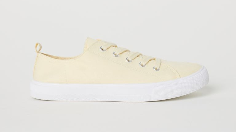 The Cutest Pastel Sneakers: H&M Canvas Trainers