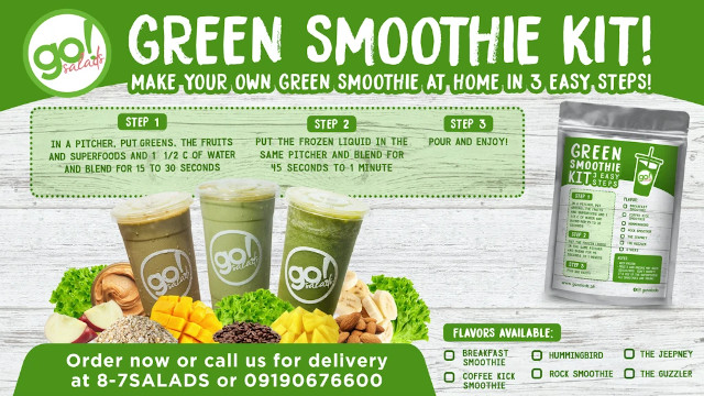 Go! Salads Green Smoothie Kits Are Now Available