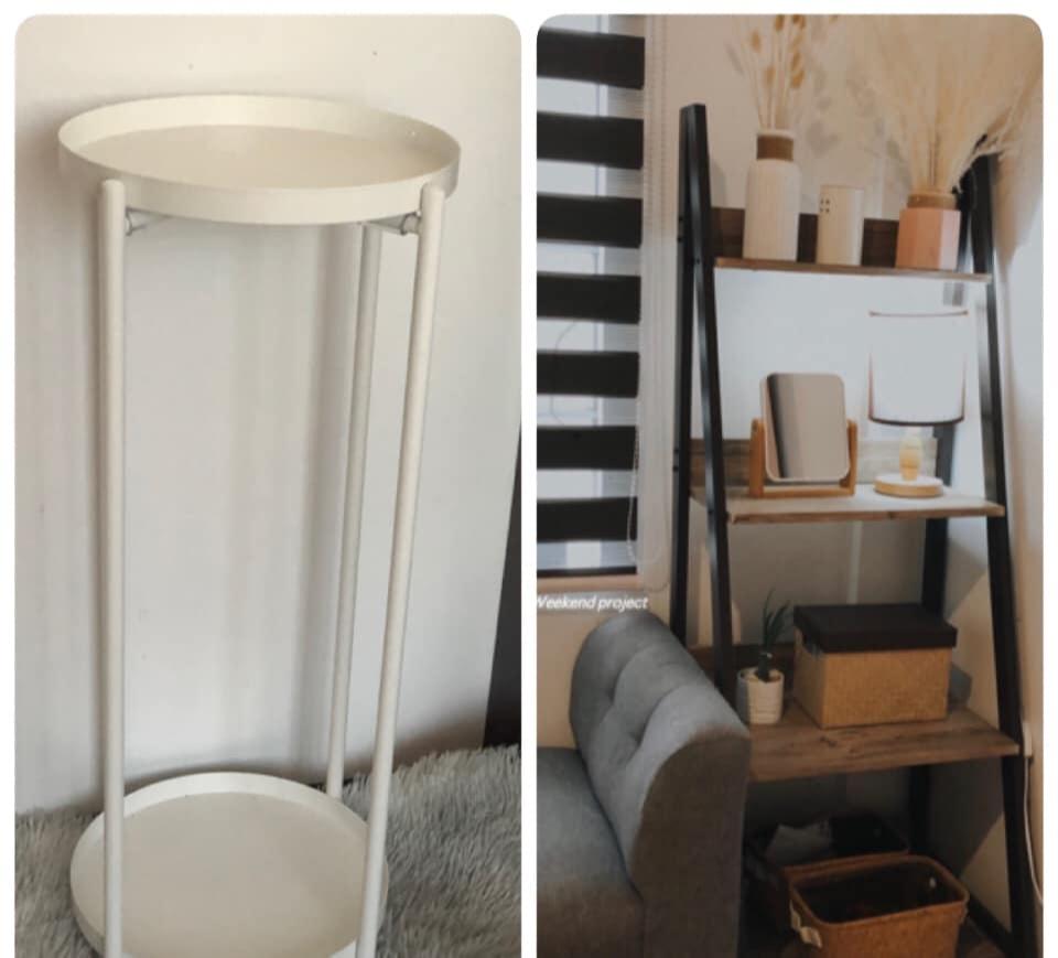 shelf, vase, plant stand