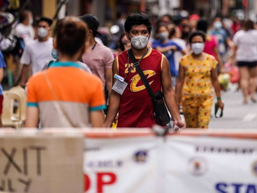 Filipino man wearing mask during COVID-19 pandemic in the Philippines