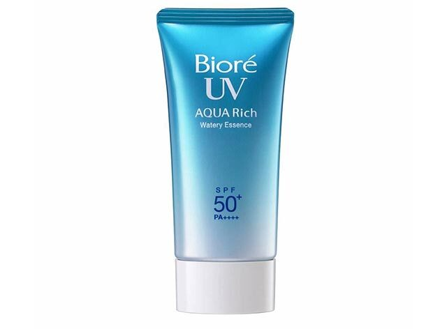 Best Non-Sticky Face Sunscreen: Biore UV Aqua Rich Watery Essence