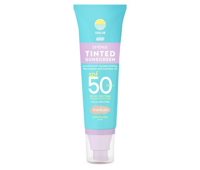Best Non-Sticky Face Sunscreen: Sunglow by Fresh Creme Tinted Sunscreen