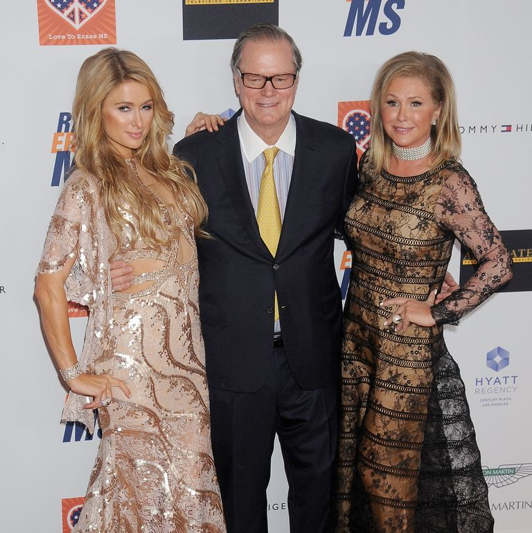 Paris Hilton with parents Rick Hilton and Kathy Hilton