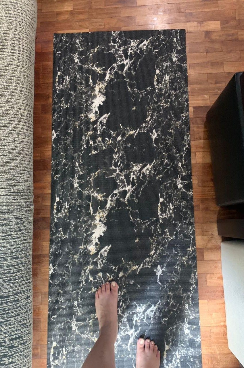 Yoga mat, marble design