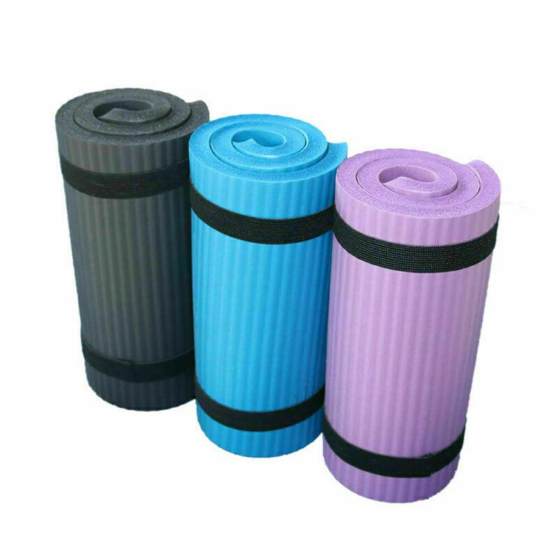 Black, blue, and purple kneeling mats for exercising