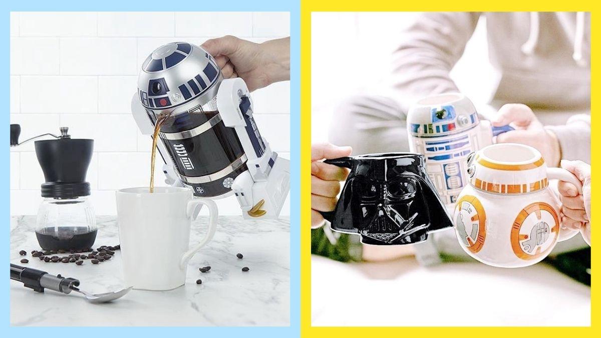 Vanilla Breeze Home Star Wars-Themed Coffee Press And Mugs