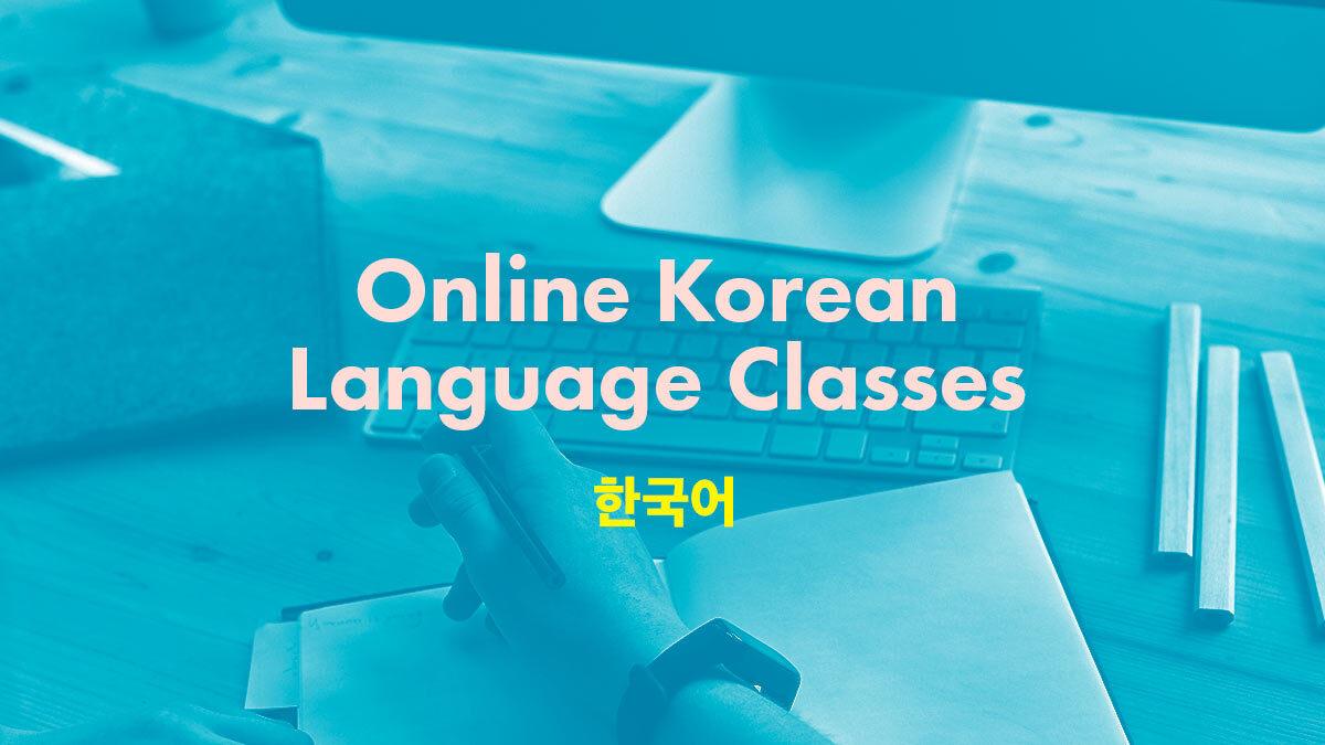 Online Korean Language Classes
