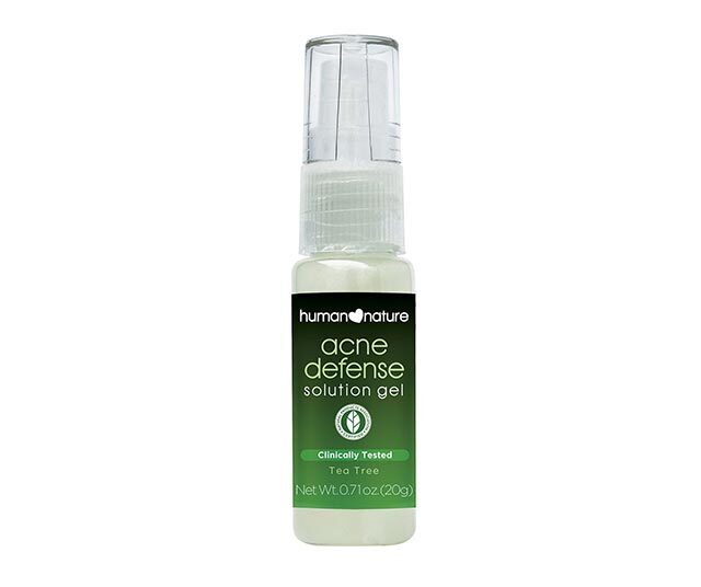 Best Treatment For Acne On The Chest: Human Nature Acne Defense Solution Gel