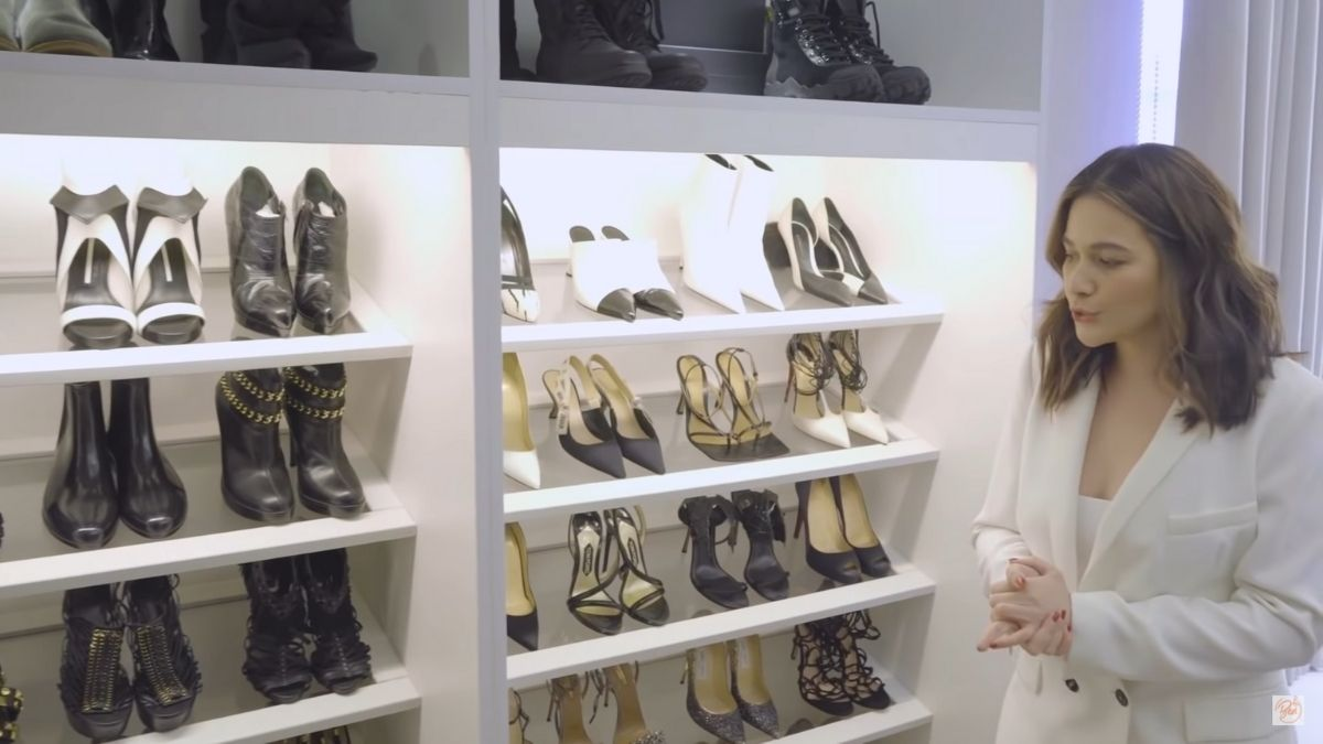 Bea Alonzo's black and white shoe collection