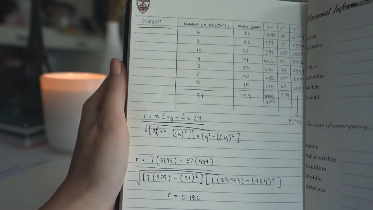 Liza Soberano's school notes