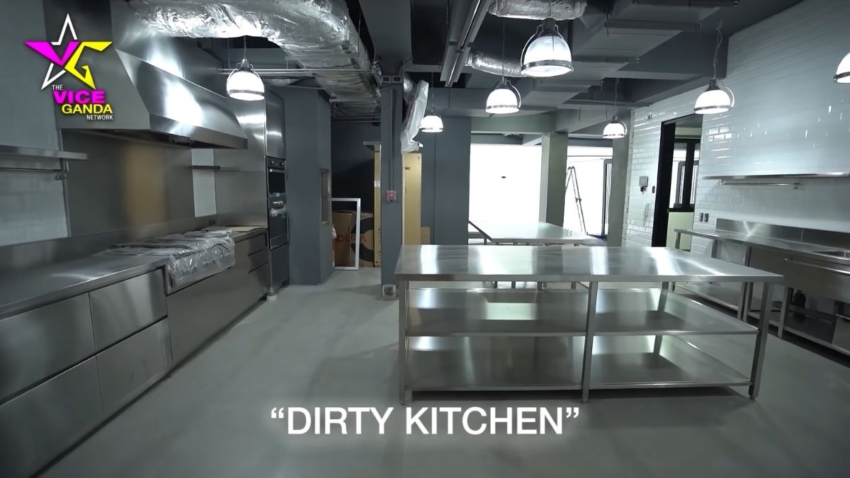 Vice Ganda house tour: dirty kitchen