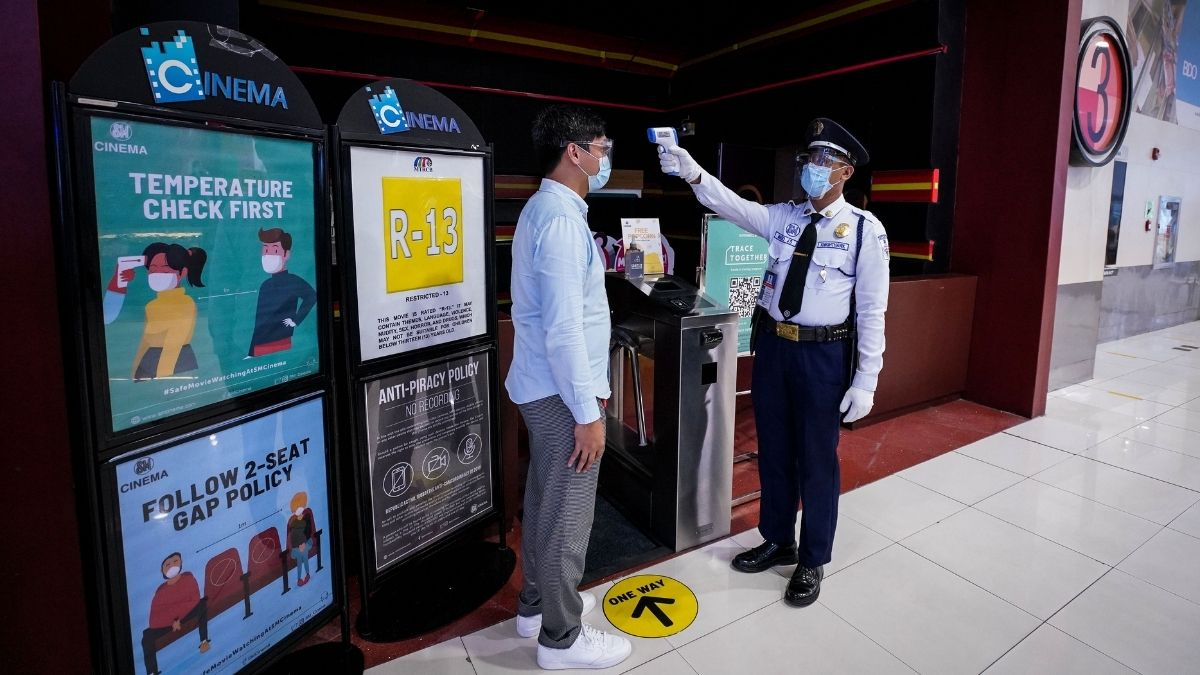 SM City Taytay disinfecting cinemas, conducting temperature checks