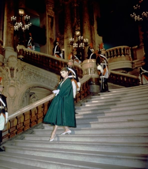 Audrey Hepburn at the Palais Garnier