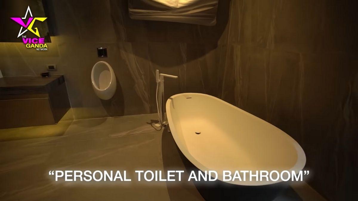 Vice Ganda house tour: bathtub in the personal bathroom