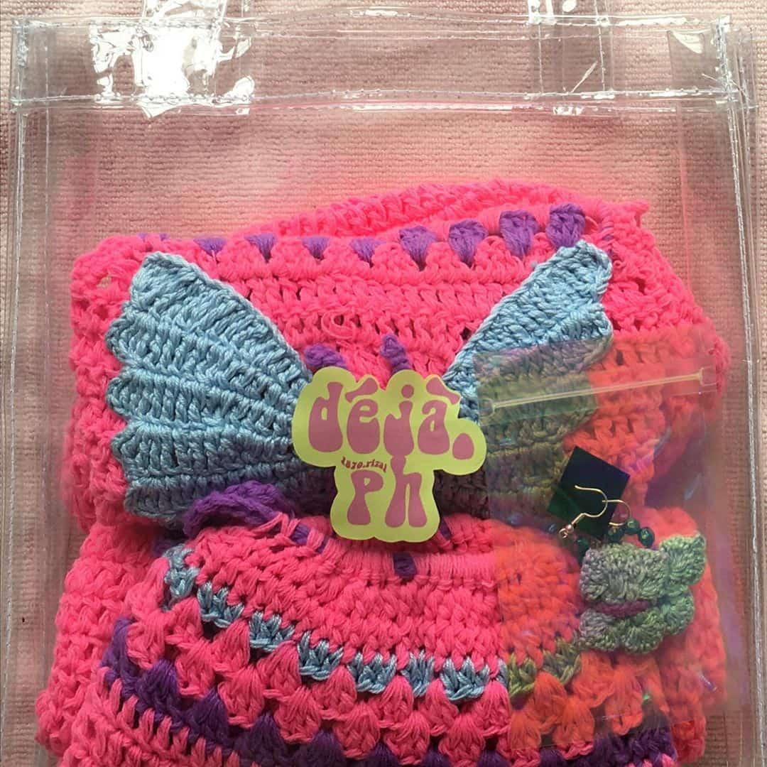 A set of crochet coordinates