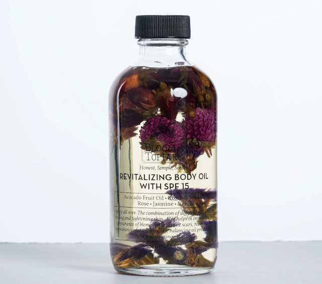 Bloom and Topiary Revitalizing Body Oil with SPF 15