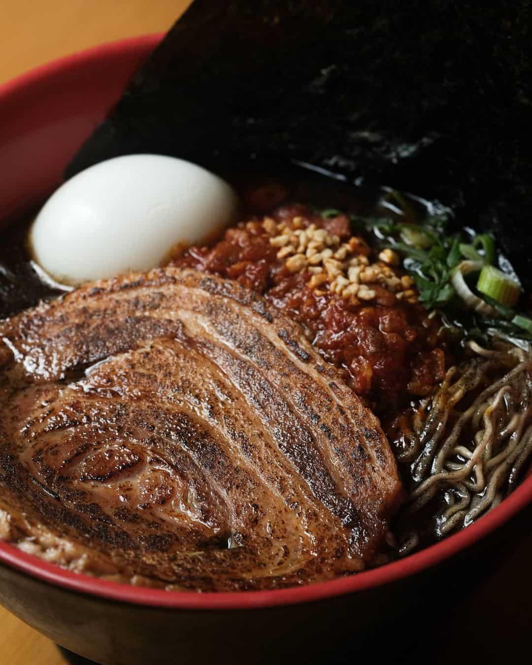a bowl of Ippudo's Karaka Special