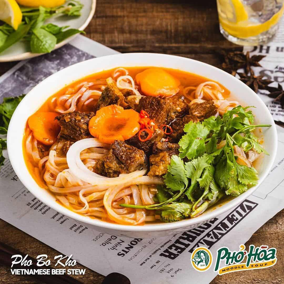 Pho Hoa's Pho Bo Kho or Vietnamese beef stew