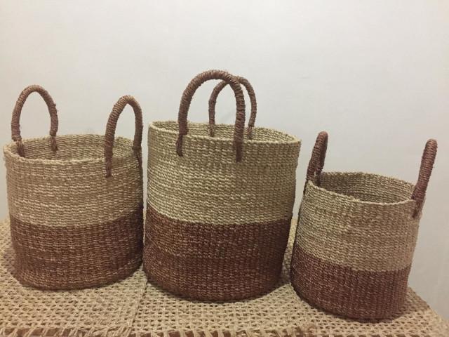 Bicol Sweetgrass Handicrafts Abaca Planter Set of 3