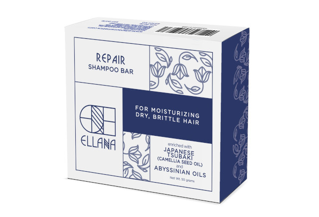 How To Repair Damaged Hair: Ellana Cosmetics Repair Hair-Strengthening Shampoo Bar With Abyssinian Seed Oil