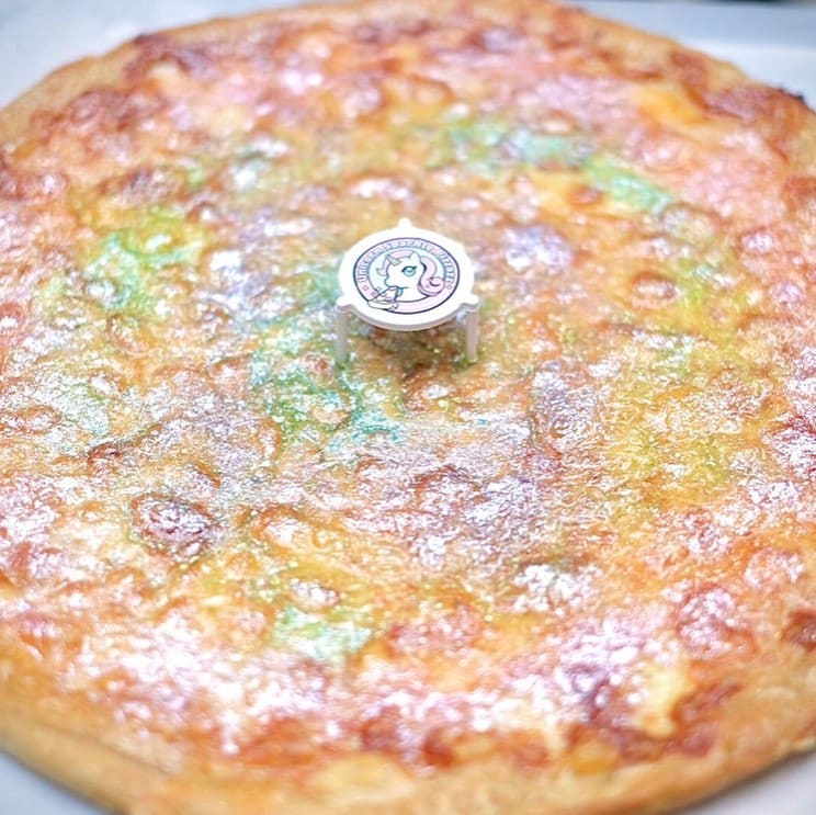 A closeup shot of Unicorn Sparkle Pizzazz's signature dish