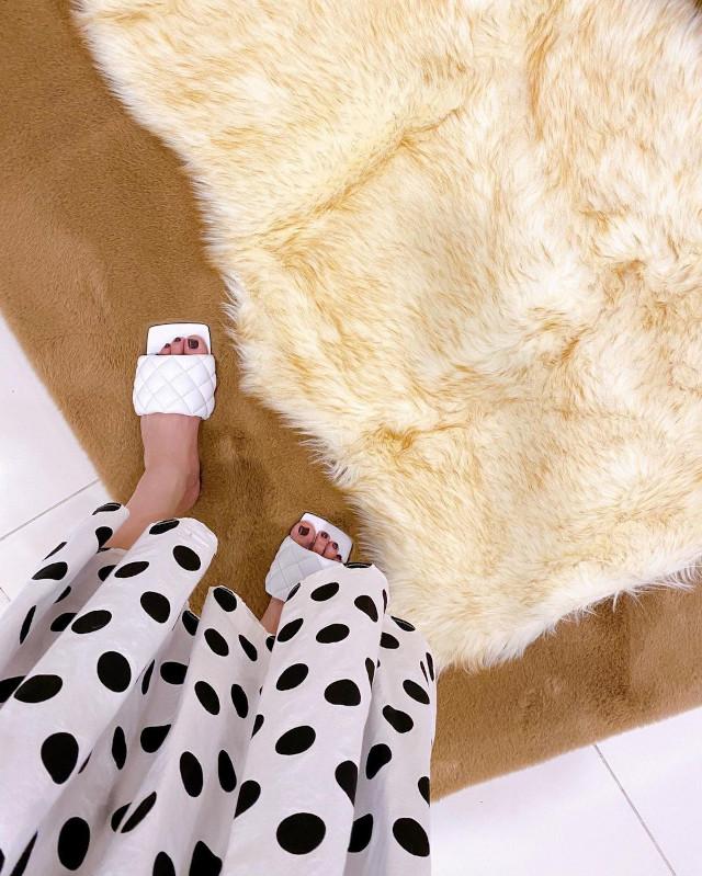 Jinkee Pacquiao wearing Bottega Venetta Padded Sandals