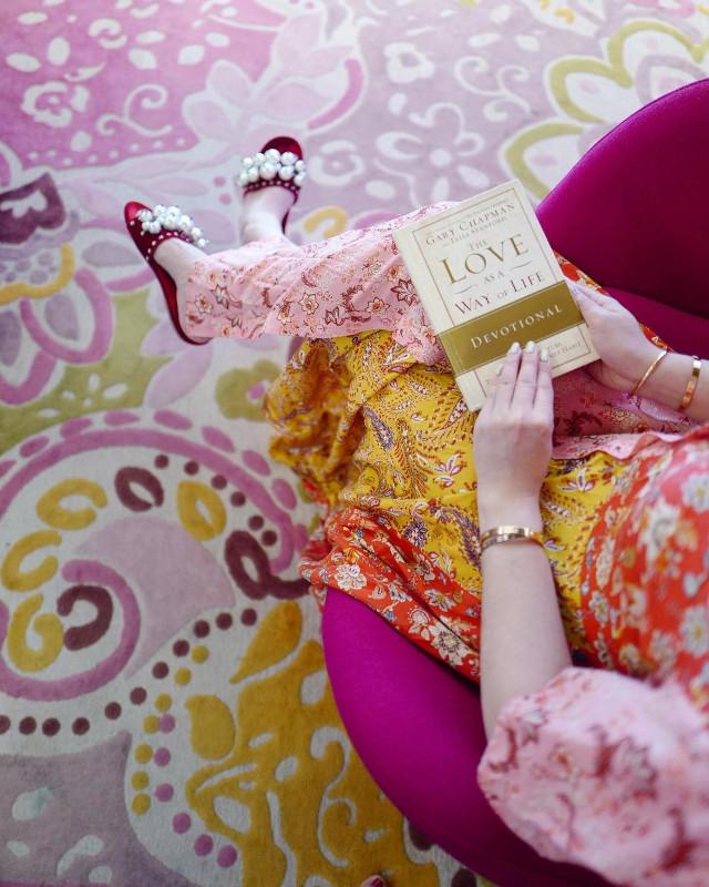 Jinkee Pacquiao wearing  Miu Miu Burgundy Pearl Embellished Velvet Flat Slides