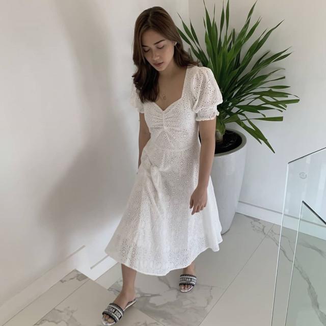 Maja Salvador wearing Dior Dway Slides