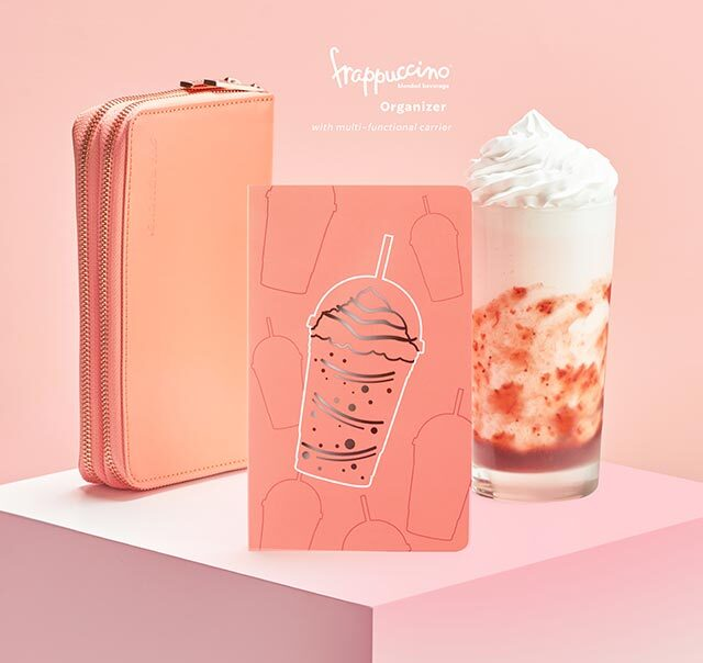 Starbucks 2021 organizers: Starbucks Frappuccino® Coral Pink Organizer (with multifunctional carrier)