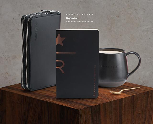 Starbucks 2021 organizers: Starbucks Reserve® Black Organizer (with multifunctional carrier)
