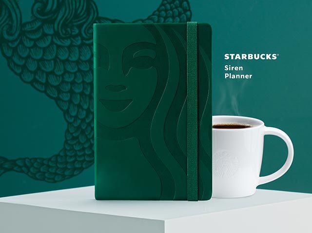Starbucks 2021 planners: Starbucks Siren (Green) Planner