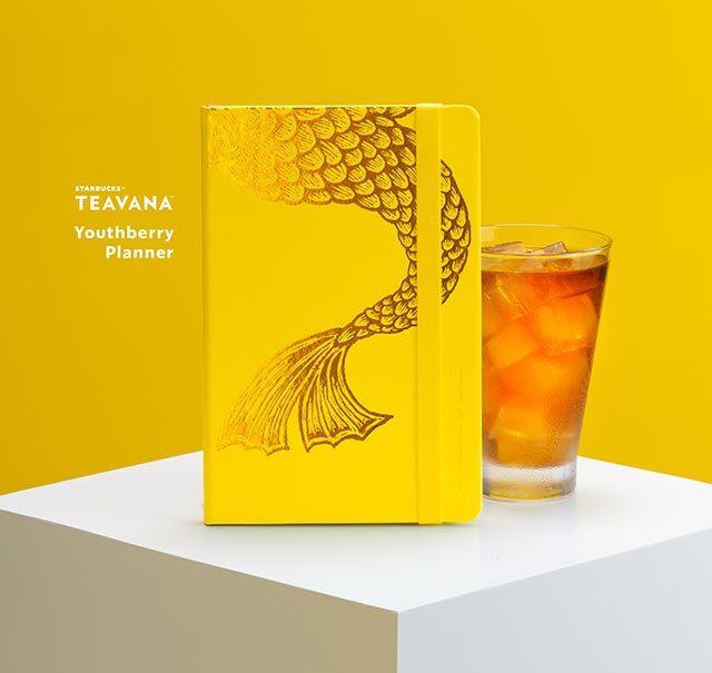 Starbucks 2021 planners: Starbucks Teavana™ Youthberry (Yellow) Planner