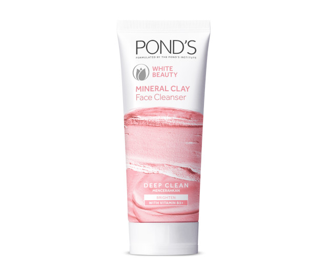 Pond's Mineral Clay Facial Foam Pure White Beauty