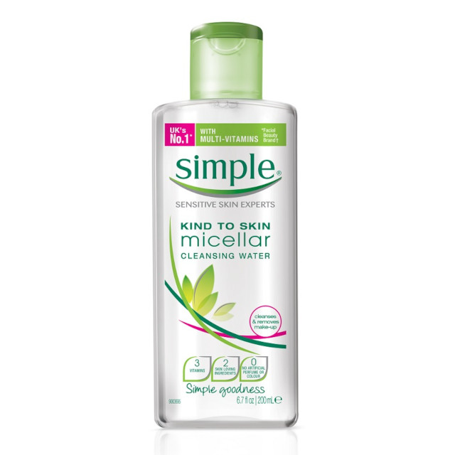 Best Cleanser for Skin: Simple Micellar Cleansing Water