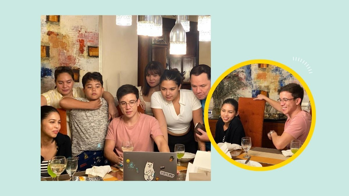 Arjo Atayde celebrating his birthday with family and girlfriend Maine Mendoza