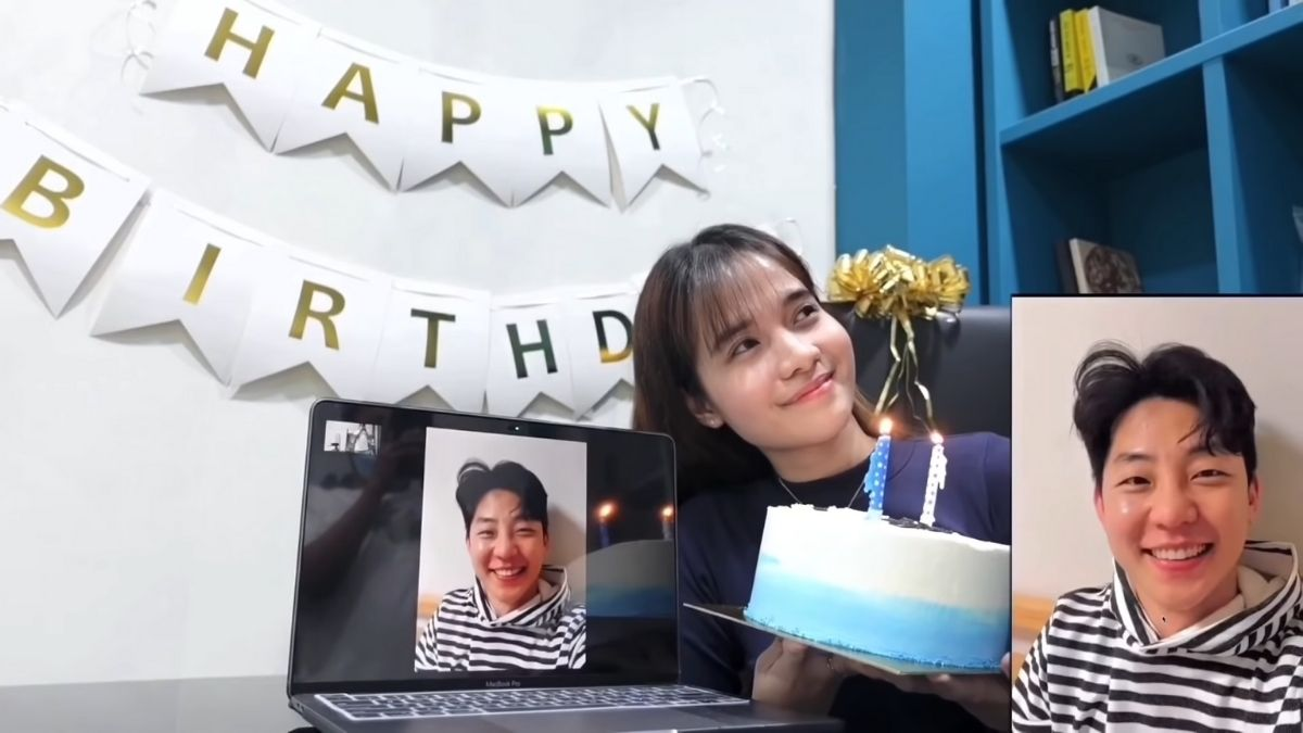 Kristel Fulgar surprises Yohan Kim on his birthday