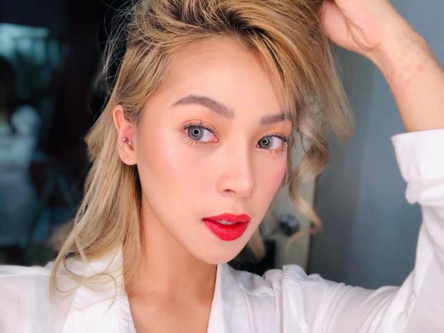 Christine Samson Red Lipstick