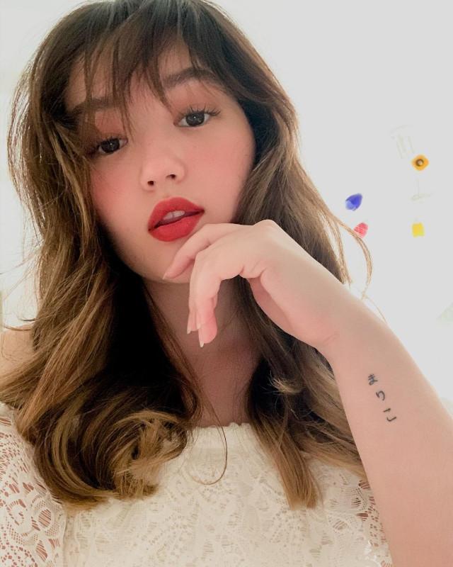 Mika Dela Cruz Red Lipstick