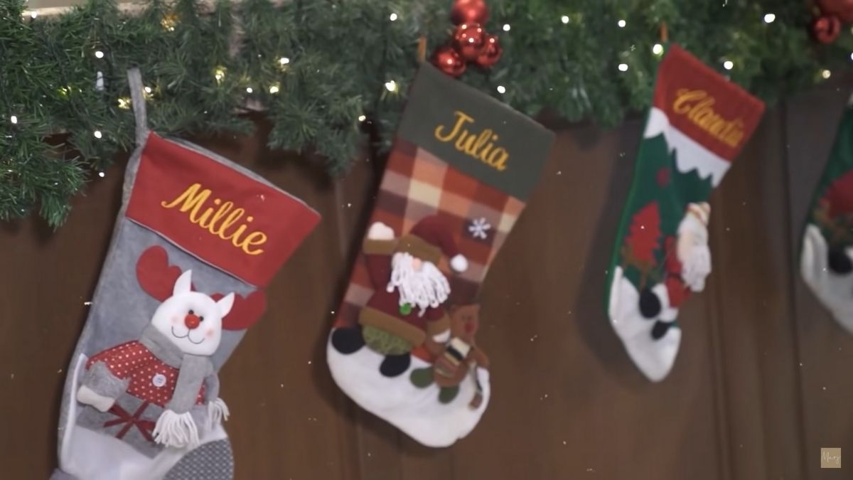 Marjorie Barretto Christmas house tour: personalized Christmas stockings