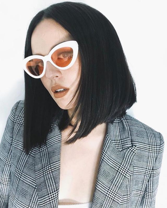Best Blunt Cut Hairstyle: Asymmetric Lob, Georgina Wilson